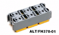 ALT-FH370-01 <BR>MICRO RELAY BOX <BR> ACCEPTS 6 MICRO RELAYS